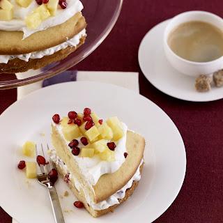 Granatapfel-Ananas-Torte