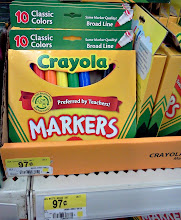 Photo: It seems like we always need markers! I picked up a package, I think it's another thing the little boy in the movie would like.