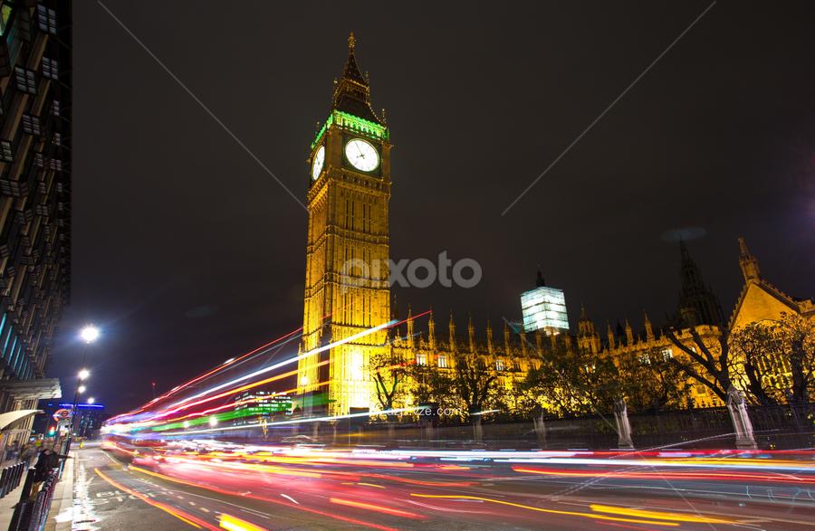 SWOOOOSH by Ahmad Azaharuddin Omar - City,  Street & Park  Street Scenes ( london, westminister, big ben )
