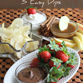 Easy Dips For Snacks and Fruit.
