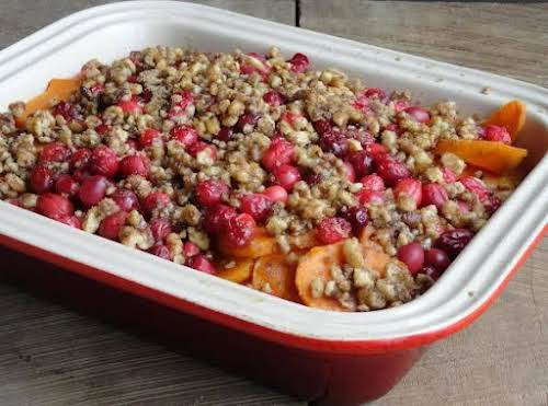 "Sweet Potato Cranberry Casserole ""Wonderful! Thanks so much for a great new..."