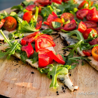 Tomato Salad-Topped Grilled Pizza