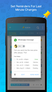 SQEDit Scheduling App: Schedule Whatsapp SMS Calls- screenshot thumbnail