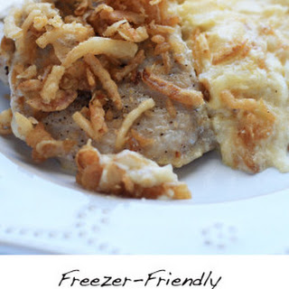 Freezer-Friendly Pork Chops and Cheesy Potatoes