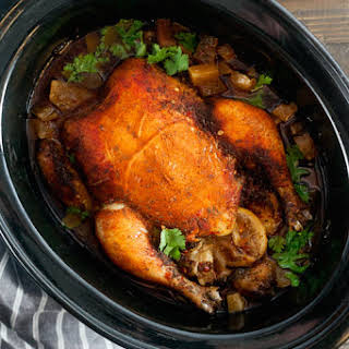 Slow-Cooked Chicken Pot Roast with Sweet Paprika and Cayenne.