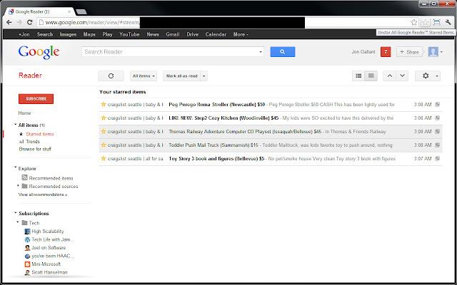 Unstar All Google Reader™ Starred Items