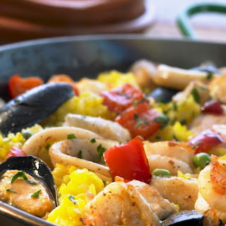 Mixed Seafood Paella.