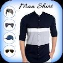 Man Blue Shirt Photo Suit icon
