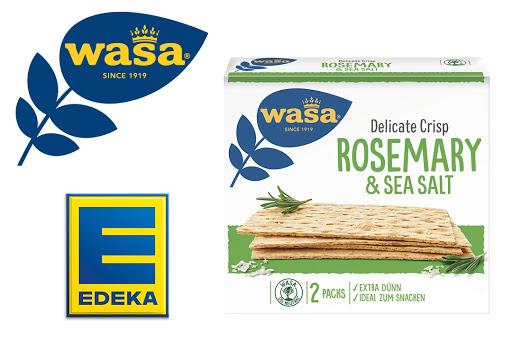 Bild für Cashback-Angebot: Wasa Delicate Crisp Rosmary & Sea Salt bei EDEKA - Wasa