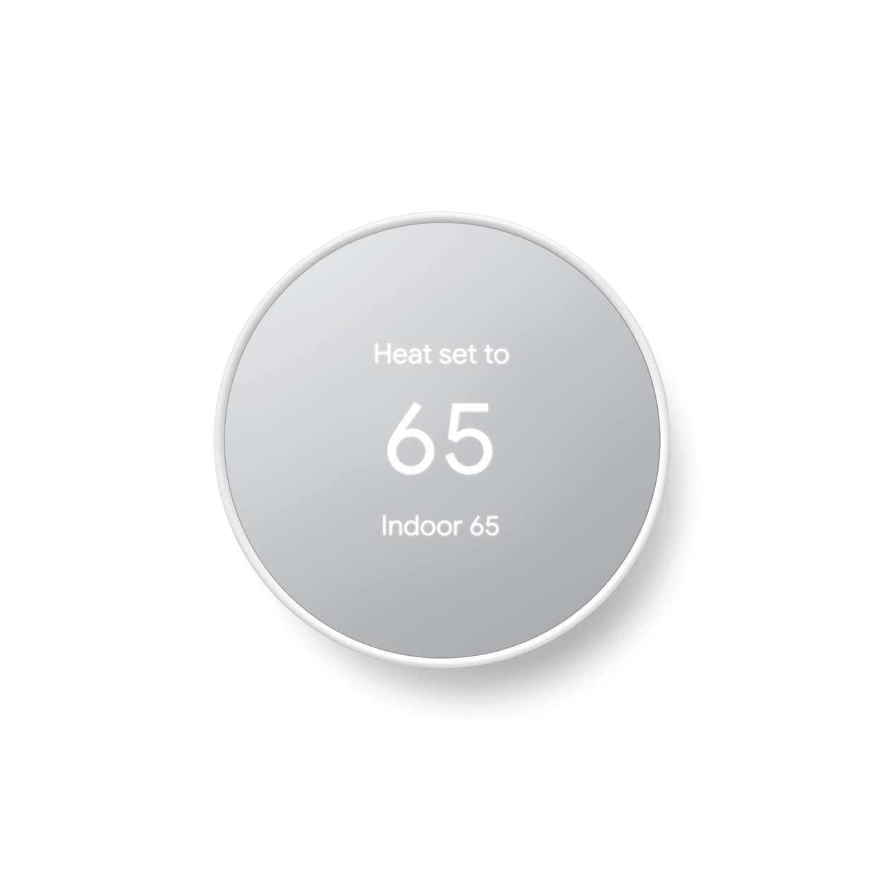 Google - Nest Thermostat - Programmable Smart Wi-Fi Thermostat (2020) - Snow