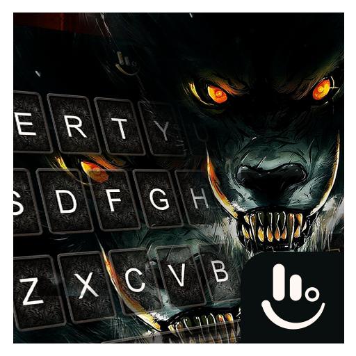 Fire Dire Wolf Keyboard Theme