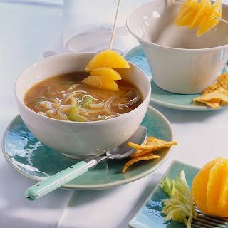Zwiebelsuppe mit Ingwer