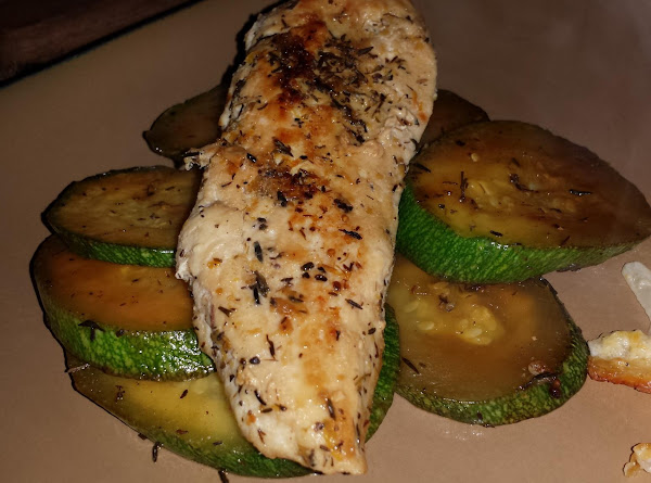 Lemon-thyme Chicken With Sauteed Zucchini Recipe