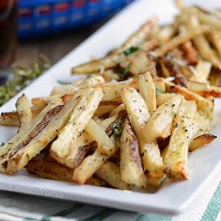 Homemade Baked French Fries.