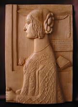 Photo: Retrato de Giovanna Tornabuoni. Tamaño: 27 x 40 cm.  El original que ha servido como modelo es un cuadro pintado sobre tabla por Domenico Ghirlandaio (1449-1494) y se encuentra actualmente en el Museo Thyssen-Bornemisza de Madrid (http://www.museothyssen.org/thyssen/ficha_obra/365). Talla en madera. Woodcarving.    Para leer algo más en relación con esta obra ir al blog: http://tallaenmadera-woodcarving-esculturas.blogspot.com/2009/09/retrato-de-giovanna-tornabuoni-el-ideal.html
