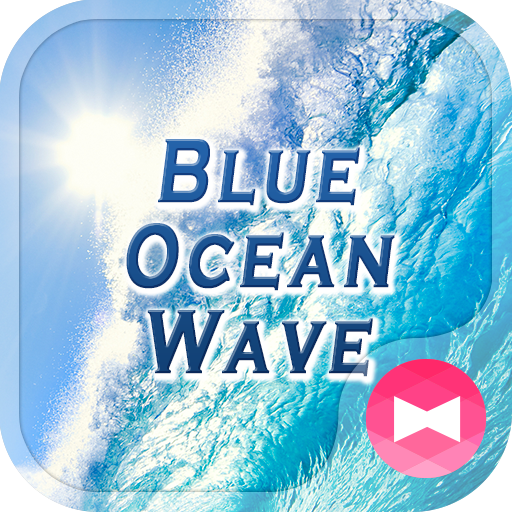 Powerful Wallpaper Blue Ocean Wave Theme Icon