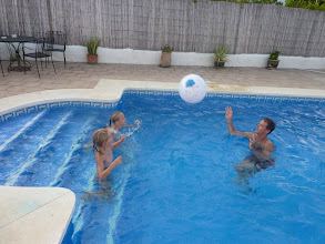 Photo: Pool volleyball