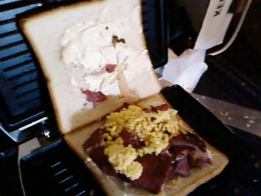 www.RickNakama.com Pastrami & Cheddar Panini Grilled Sandwich