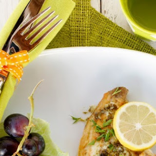 Sole With Lemon Butter Sauce.