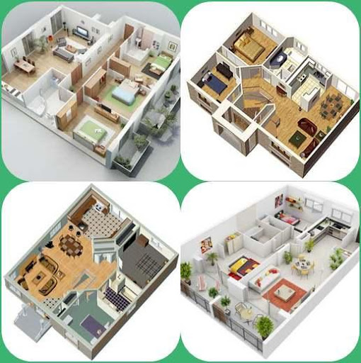 3Dシンプルな家の計画