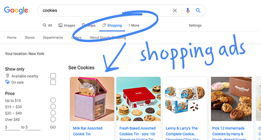 <h3>Show your products in free product listings on the Google Shopping</h3>