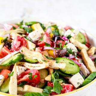 Mediterranean Panzanella Salad.