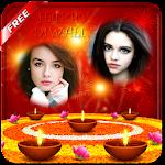 Dual Diwali Photo Frame Effect