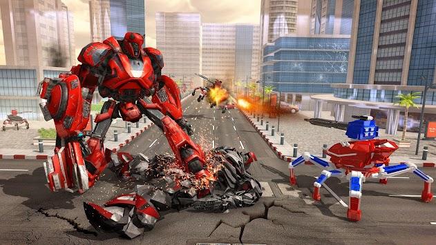 US Police Spider Robot Cop Car Transforming Games apk screenshot