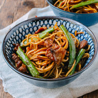 Bian Dou Men Mian (Steamed Noodles with Green Beans).
