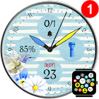 Free Spring Watch Face Theme for Bubble Clouds icon