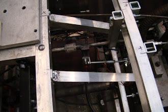 Photo: Photo of the reverser-reverser brake linkage.