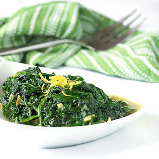 Sautéed Spinach and Garlic.