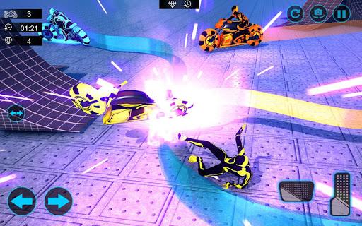 moto light trail stunt:racing battle screenshot 2