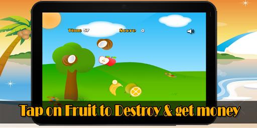 フルーツをタップシューティングゲーム