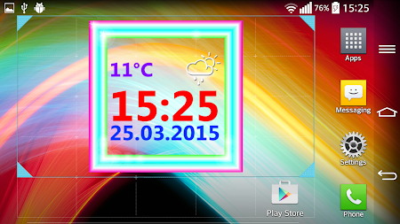 Neon Digital Weather Clock 2.0 screenshot 1039299
