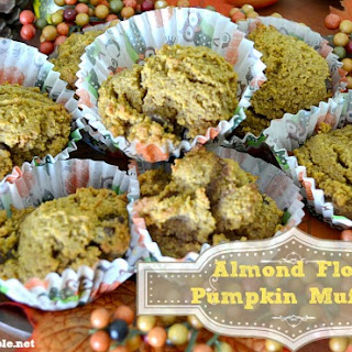 Almond Flour Chocolate Chip Pumpkin Muffins Recipe #Pumpkin #Harvest