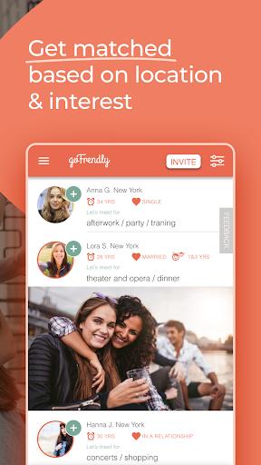 GoFrendly: u00a0Encuentra, conoce y haz amigos, ¡solo mujeres! capturas de pantalla 2