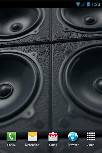 Speakers Power Live Wallpaper