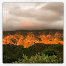 Photo: Wedge of sunset on the reserves mountains
