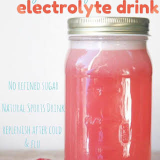 Healthy Homemade Strawberry Kiwi Electrolyte Drink.
