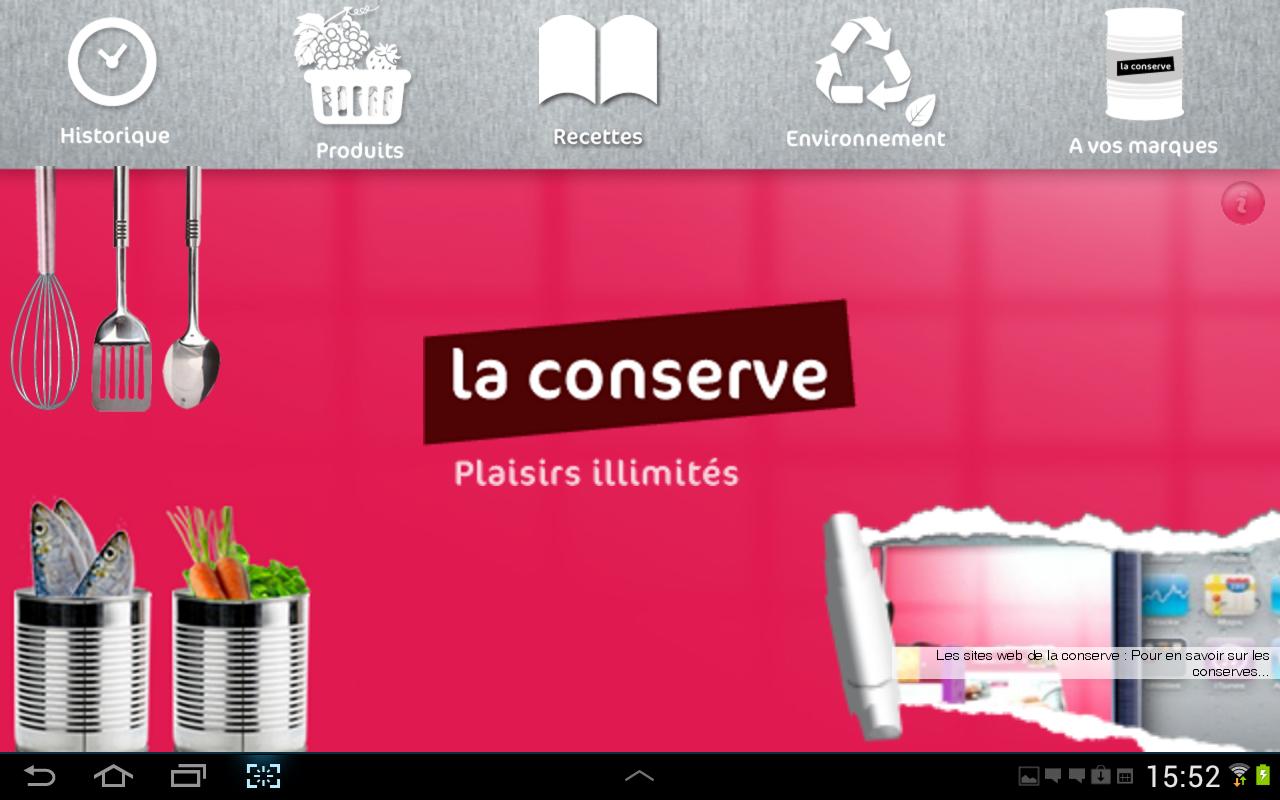 Recettes de cuisine laconserve android apps on google play for Google cuisine