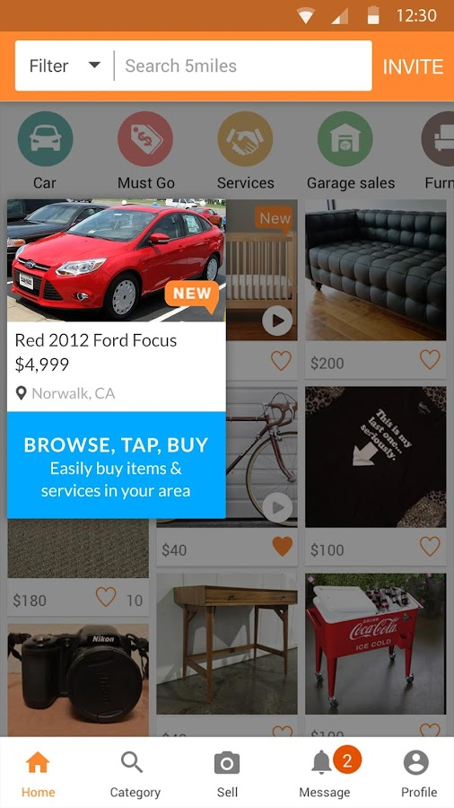 5miles: Buy and Sell Used Stuff Locally- screenshot