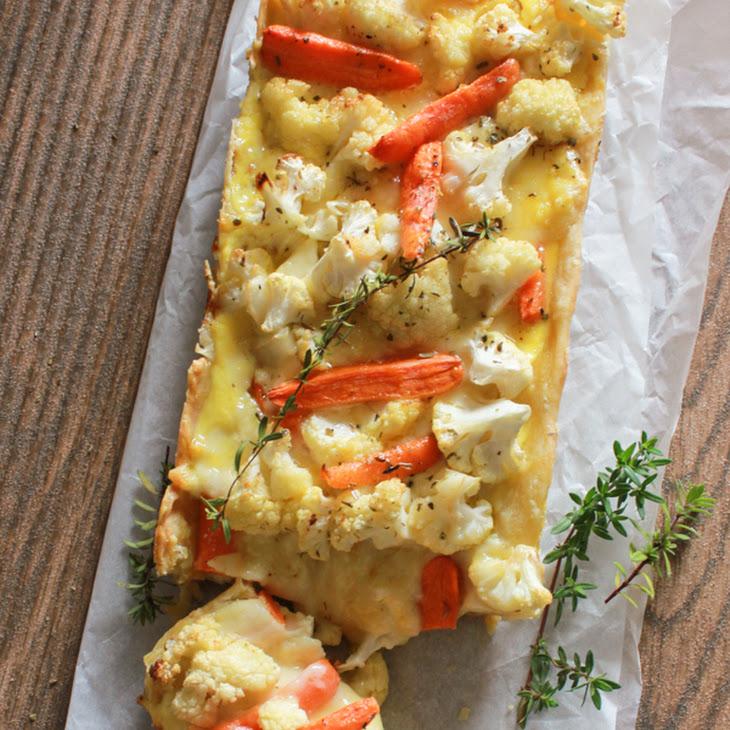 Baked Cauliflower Carrot Cheese Pie Recipe | Yummly