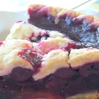 Black Cherry Cobbler Pie.