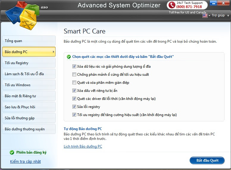 Download Advanced System Optimizer (ASO) 3.9 Việt hóa+ keygen