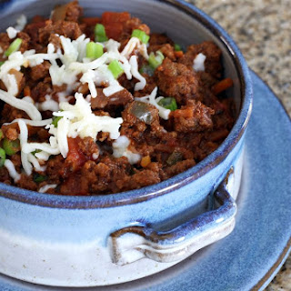 Crock Pot No-Bean Beef Chili.