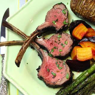 Red Wine-Garlic-Rosemary-Orange-Mint-Marinated Grilled Lamb Chops.