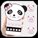 Cute Panda Pink Bow Theme icon