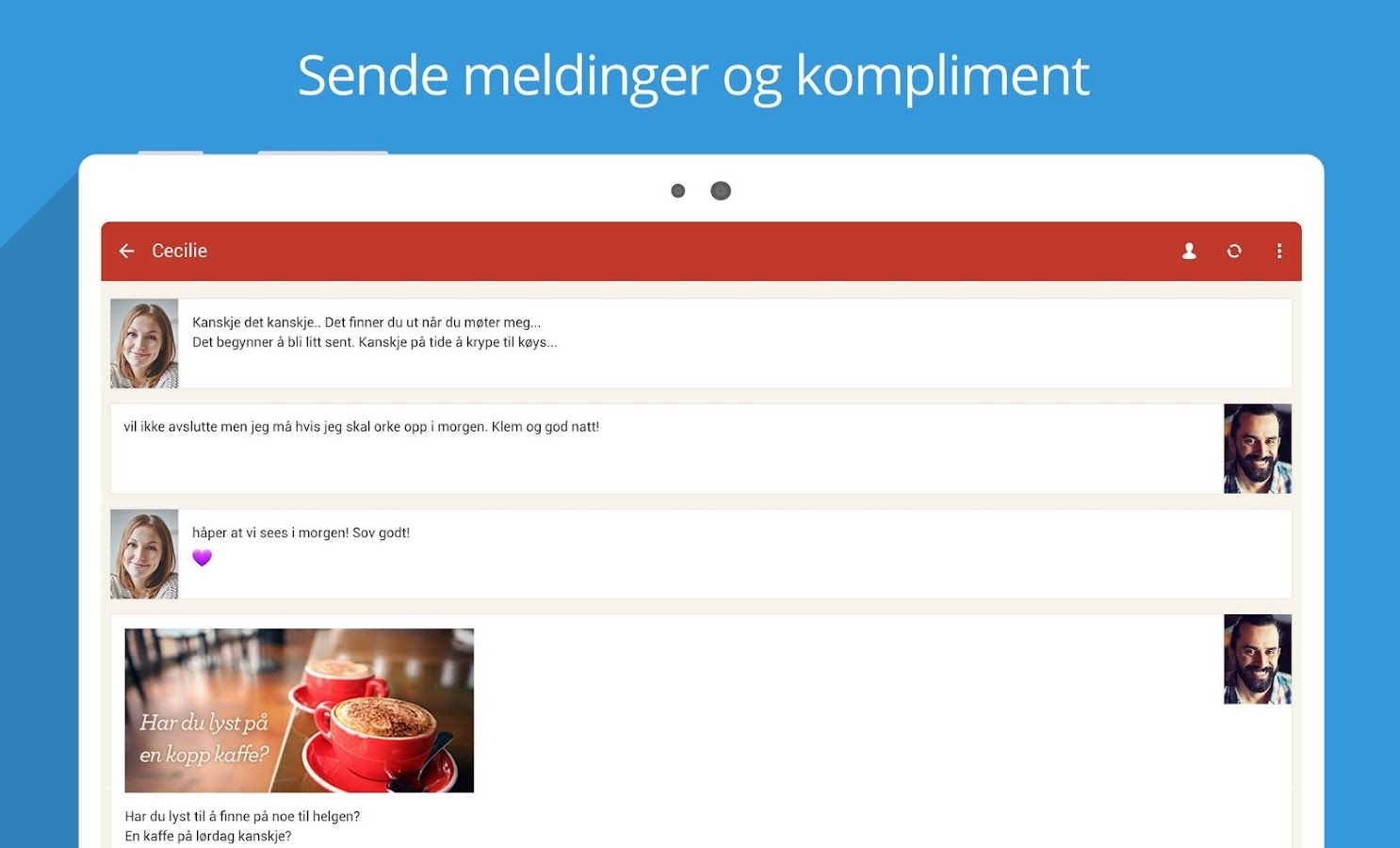 Møteplassen - date single- screenshot