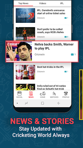 Cricnwin: Live Cricket Scores ,Play,Chat with Fans 5.31 screenshots 6